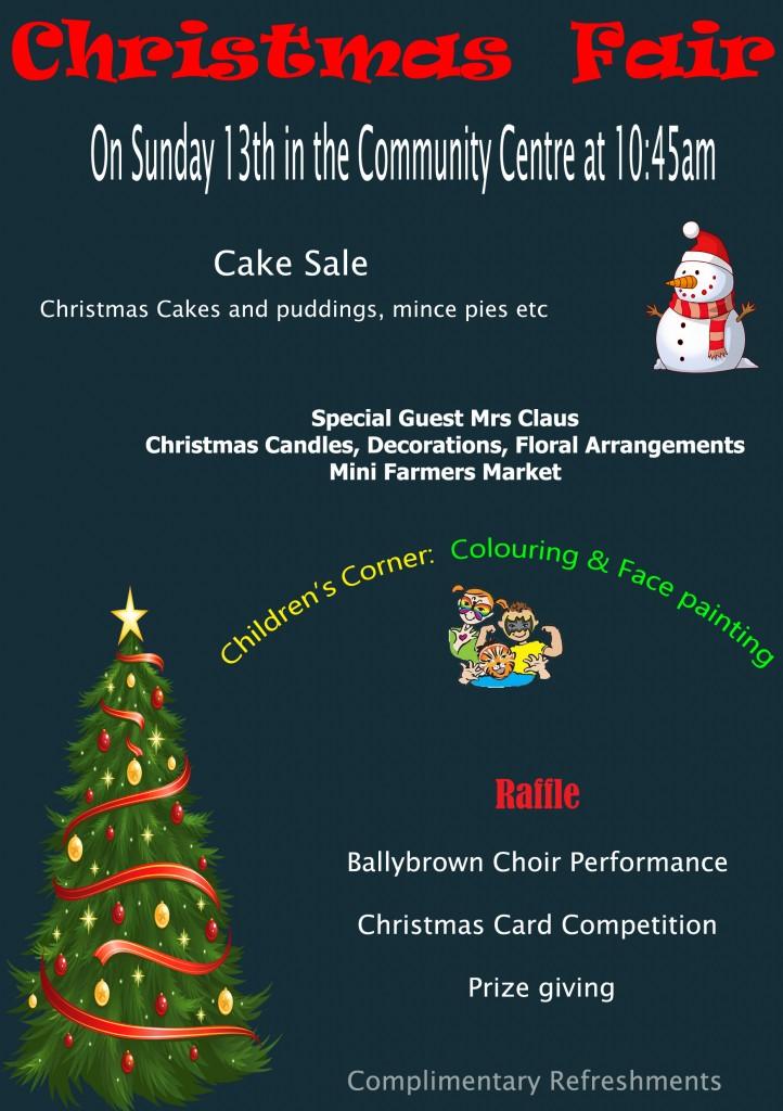 Christmas Fair Flyer 2015